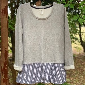 Westbound double layer sweater